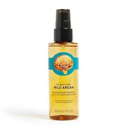 The Body Shop Wild Argan Dry Body Oil Nourishing Hydrating Vegan 125ml