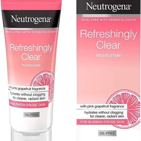 Neutrogena Refreshingly Clear Oil Free Moisturiser 50ml 455**