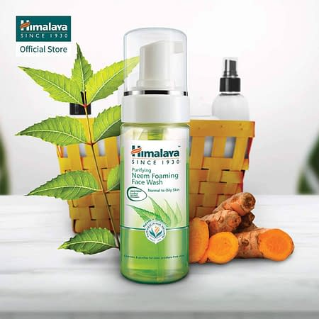 Himalaya Oil Control Lemon Face Wash for Toning, Cleansing & Removing Excess Oil (Neem Foam 1-PACK)