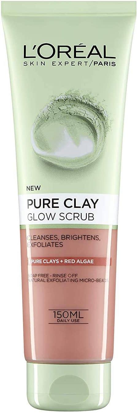 L'Oreal Pure Clay Glow Scrub 150ml (Red Algae Glow Scrub)